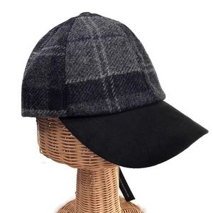 NWT Barbour Men's Wool/Suede Plaid Baseball Cap